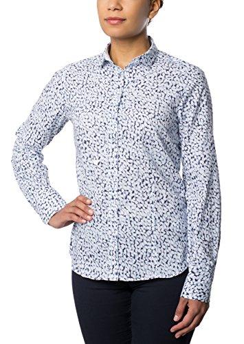 ETERNA long sleeve Blouse COMFORT FIT printed Blu