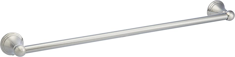 AmazonBasics - Moderner Handtuchhalter, Satinierter Nickel, 61 cm
