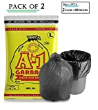 #10: A1 Garbage Garbage Bag Garbage Size 19 * 21 for Office Kitchen All Trash/Dustbin Bag Biodegradable Pack of 2 Quantity 60pcs (30pcs* 2 Pack) Best Seller