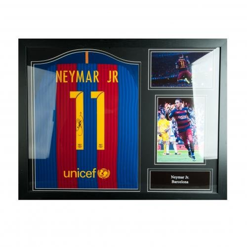 FC-Barcelona-Neymar-Signed-Shirt-Framed-Official-Merchandise
