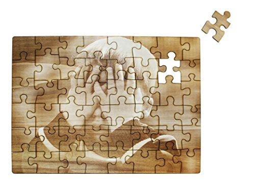 Puzzle mit eigenem Foto aus Holz selbst gestalten inkl. Schachtel, graviertes Fotopuzzle mit eigenem Motiv oder Text, Holzpuzzle mit 48 Teilen, ca. 400 x 290 - Puzzle Foto