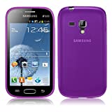 TBOC® Funda de Gel TPU Morada para Samsung Galaxy S Duos S7562 de Silicona Ultrafina y Flexible