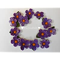 Filzblüten Frühling violett 5er Set