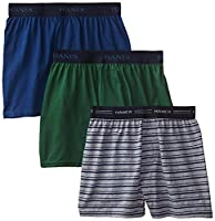 Hanes Ultimate Boys` Solid Knit Boxer with Comfort Flex Waistband, BU541C, S