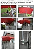 2 x Distance de parapluie -senkrecht anbringbarer ou horizontale-pivote à 360° brevetée-bALKONSCHIRME amovible support sTÖCKEvon 25 à 42 mm de diamètre de holly sTABIELO avec douille profonde 11 et 13 cm distance cm de long de l'axe de filetage pour fixation murale avec support mULTI - 5 compartiments orientable à 360° kratzfreien gUMMISCHUTZKAPPEN de fixation pour attaches de ronds ou carrés éléments de 25 à 55 mm-fabriqué en allemagne-innovation en allemagne-holly  produits sTABIELO holly-- sunshade -sCHIRMENSTÖCKEN jusqu'à ø 55 mm, 2 supports de fixation ou 2-te utiliser pour des raisons de sécurité, serre-câbles)