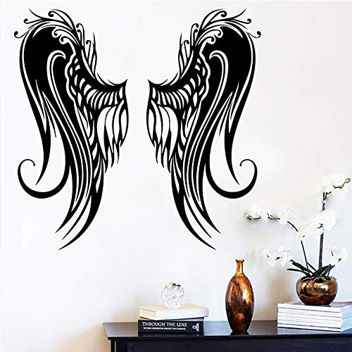 Wings Wandaufkleber Wohnkultur Für Wohnzimmer Schlafzimmer Dekoration Zubehör Vinyl Wandkunst-in Wandaufkleber Blau XL 58 cm X 56 cm -