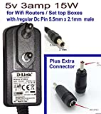 #2: NIRMALS 5V 3amp DC SMPS Power Supply Adapter For Dlink Netgear Tplink Wifi Routers / Set top Boxes 5v 3a (5V 3A)