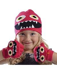 Rjm Bonnet pour enfant Monster Bonnet et moufles Gants