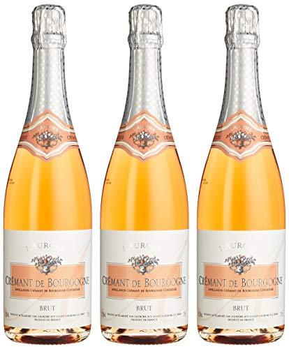 L`Aurore Cremant de Bourgogne Brut rosé (3 x 0.75 l)