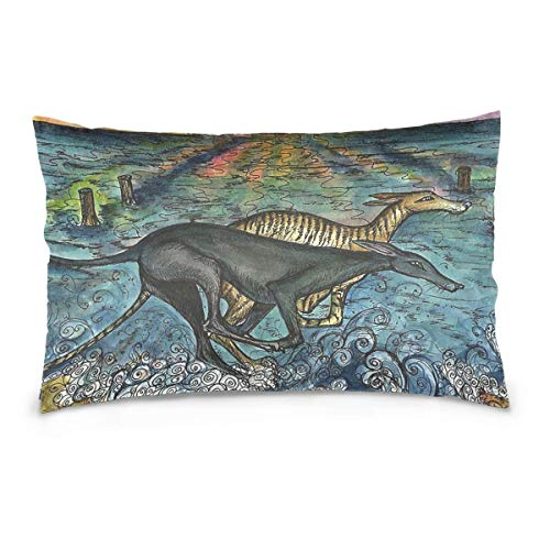 Throw Kissenbezug Sunny Submarines Washable Removable Pillow Cover for Home & Hotel Collection Size 20 x 30 Inch Euro Pillow Shams