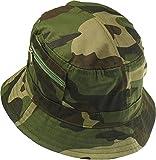 Harrys-Collection Damen Herren Fischerhut Stoff 6 Farben bis Größe 63, Farben:Camonflage, Kopfgröße:56