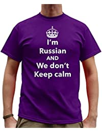 Nutees I'm Russian And We Don't Keep Calm Funny Mens T Shirt - Purple