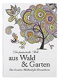 Idena 68129 - Malbuch für Erwachsene, Motiv Wald und Garten, 64 Seiten