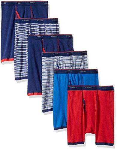 Hanes mens  Freshiq Striped Sport Boxer Briefs (5 + 1 Free Bonus Pack) Boxer Briefs