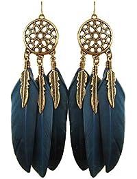 feder ohrstecker silber 925 mit türkis koralle kette und ohrklemme navajo kunst