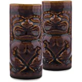 Homesake Handcrafted Ceramic Beer Mug 650 Ml, Tiki Tropical Bar Cocktail Mug, Set Of 2