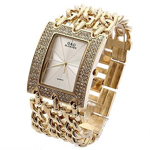 Sheli Damen Armbanduhr Diamanten Gold Urlaub Geschenk für Weihnachten Danksagung Halloween Armbanduhre