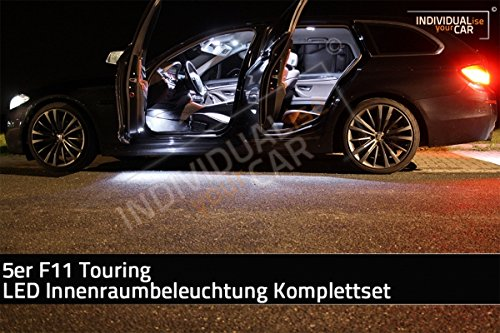 LED Innenraumbeleuchtung SET für 5er F11 Touring - Pure-White - mit Panoramadach