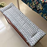HUANXA - Cojín suave para asiento de banco, para interiores y exteriores, 100 x 30 cm, B
