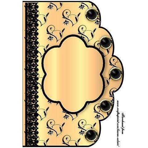 Motivo floreale pizzo bordo a 'n formato A4anteriore–Alba di Karen Adair