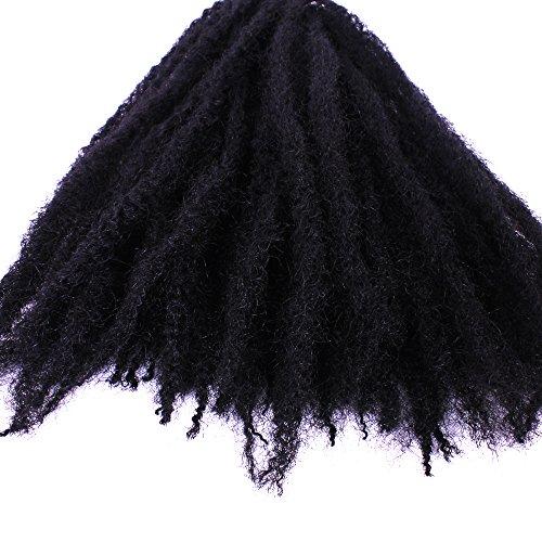 Furice - extension di capelli ricci crespi con treccine afro, trecce sintetiche morbide, acconciatura in stile africano e giamaicano
