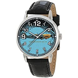 Antiquated Blue Messerschmitt Bf-109 Luftwaffe WW-II Fighter Aircraft Collectible Wrist Watch ...