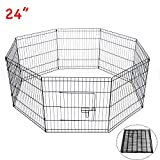 D2B 61x61CM Pet Play Pen Dog Rabbit Puppy Playpen Cage Folding Run Fence