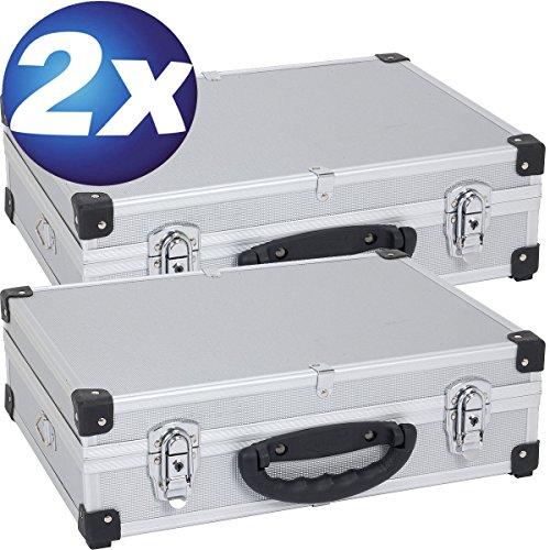 Preisvergleich Produktbild XXX 2 Aluminium Koffer 3 Fächer Silber PRM10101S XXX