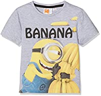 Universal Boy's Minions T-Shirt, Grey, 2-3 Years (Manufacturer Size:3 Years)