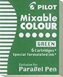 Pilot Set of 6 Cartridges for Parallel Pen 6pièce (S) Nachfüllpack für Stifte – Refill für Stifte (grün)
