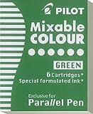 Pilot Set of 6Cartridges for Parallel Pen 6pièce (S) Nachfüllpack für Stifte–Refill für Stifte (grün)