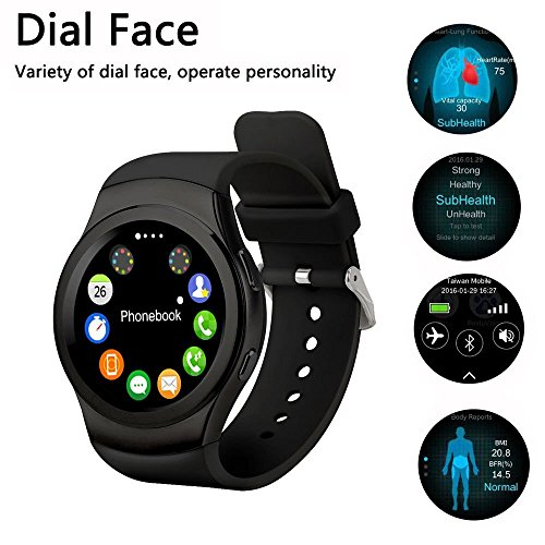 Videocon Dost V1550ZTE Blade V8 Compatible Certified Bluetooth Smart Watch GT08 Wrist Watch Phone with Camera & SIM Card Support Hot Fashion New Arrival Best Selling Premium Quality Lowest Price Apps Touch Screen multy language copatible Android,IOS moble Tablet PC iphone Price with Apps Touch Screen,multi Lnaguage with Android Ios mobile tablet iphoneBLACK JOKIN  available at amazon for Rs.1799