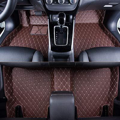 SIZHINIAN Anti-Rutsch-Auto Fußmatten für Renault alle Modelle Logan szenische Fluence Duster Laguna Auto Teppich-Fußmatten-Abdeckungen, Kaffeefarbe weiß l, Kaffee-Farbe-White-l Matte White Modell