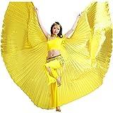 Calcifer® Marke neue Ägyptische Ägypten Belly Dance Flügel Isis Flügel Kostüm Geschenk für Big Party Weihnachten, gold