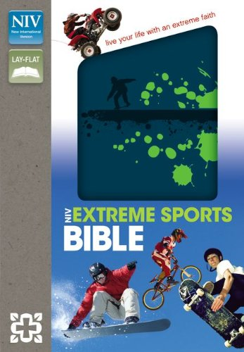 Holy Bible: New International Version, Blue / Green Italian Duo-Tone, Compact Thinline, Extreme Sports Bible -