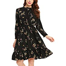 Schwarzes kleid mit blumenprint