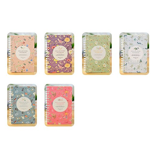 Notizbuch mit Blumen-Editor Pocket Memo Pads Farben erhältlich ()