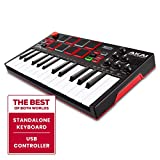Akai Professional MPK Mini Play - Standalone Mini Keyboard USB Controller mit eingebautem Lautsprecher, Pads im MPC-Stil, On-board Effekte, 128 Instrumenten, 10 Drum-Sounds, Software Suite inklusive
