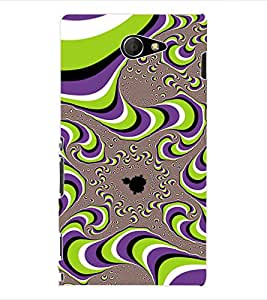 ColourCraft Illusion Back Case Cover for SONY XPERIA M2 / M2 DUAL D2302