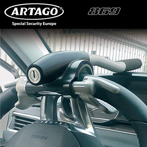 ARTAGO 869ART Anti-Theft Bar Auto Lenkrad Armaturenbrett, verstärkt, Universal