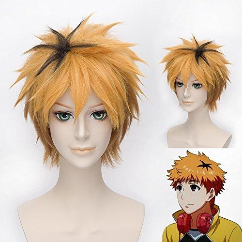 �m Cosplay Erwachsene gelb kurze Haare Halloween Kostüm Merchandise Zubehör (Heißer Teenager Halloween Kostüme)