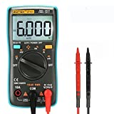 XSMeterHouse Digital Multimeter, ZOTEK Portable True RMS 6000 Counts Auto Ranging Multimeter AC/DC Voltage Resistance Current Frequency Circuit Didoe Continuity Tester With Backlight LCD Display