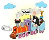 Wandlampe Holz - der kleine Maulwurf incl. Wunschname - Lampe mit Schalter für Kinder - Kinderzimmer Kinderlampe Wandleuchte Eisenbahn