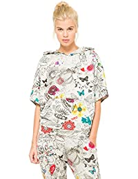 Con Cappuccio it Amazon Felpe Desigual Abbigliamento Felpe 7qawgt