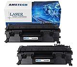 2 Pack Amstech kompatibel toner CE505A Schwarz Tonerkartusche replacement fuer HP LaserJet P2030 P2035 P2035N P2050 P2055D P2055DN P2055X Standard Yield (2300 Seiten)
