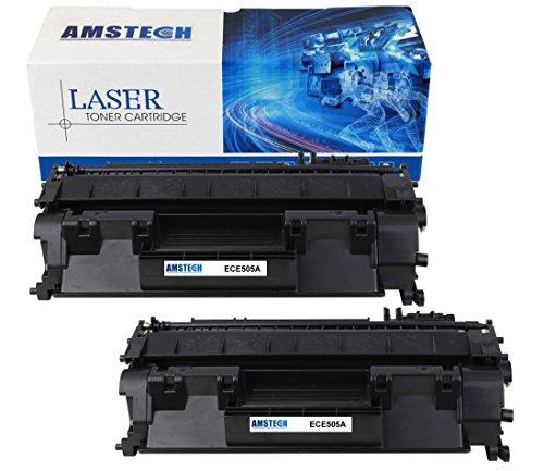 Preisvergleich Produktbild 2 Pack Amstech kompatibel toner CE505A Schwarz Tonerkartusche replacement fuer HP LaserJet P2030 P2035 P2035N P2050 P2055D P2055DN P2055X Standard Yield (2300 Seiten)