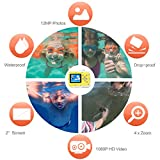 Pellor Kinder 3M Wasserdicht Staubdicht Unterwasser Sport Minikamera, 2 Zoll HD-Bildschirm Digitalkamera - 3