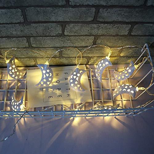 Weihnachten Lichter Lichterkette, TIREOW 1,2M 10LED Mond String Licht, Dekoration für Hochzeit, Party, Geburtstag, Haus, Garten, Wohnzimmer, Terrasse Rasen