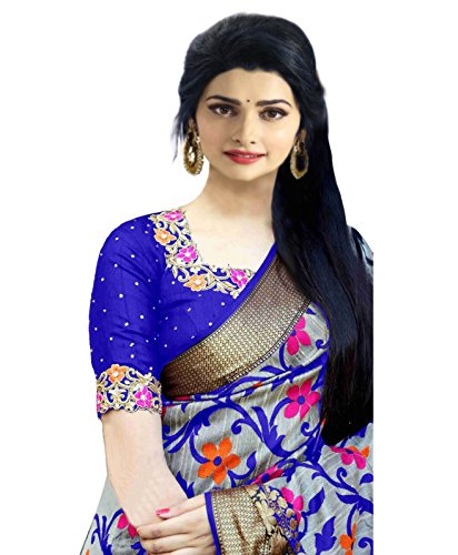 Dheylu Creation Silk Saree With Blouse Piece (Bdko_1054_Multi-Coloured_Free Size)