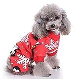 Abbigliamento per Animali Domestici, Legendog Pigiama di Cane di Natale Pinguino di Fiocco di Neve Stampato Pet Apparel Cotton Jumpsuit per Pet XL